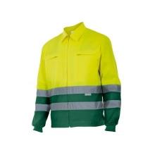 Cazadora alta visibilidad 153-110 amarillo/verde VELILLA