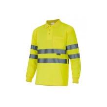Polo manga larga alta visibilidad 174-20 amarillo VELILLA