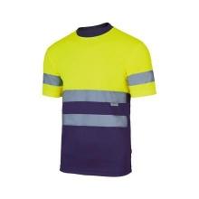 Camiseta técnica alta visibilidad 305506-70 amarillo/azul VELILLA