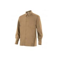 Camisa de manga larga 529-6 beige VELILLA