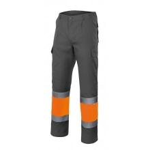 Pantalon alta visibilidad 157-240 gris/naranja VELILLA