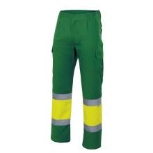 Pantalon alta visibilidad 157-170 verde/amarillo VELILLA