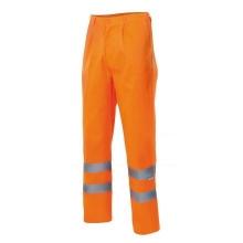 Pantalon alta visibilidad 160-19 naranja VELILLA