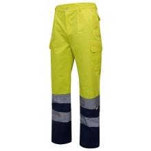 Pantalon alta visibilidad 303001-70 amarillo/azul VELILLA