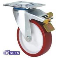 Rueda giratoria freno 2-2367 100Ømm 130kg poliuretano ALEX