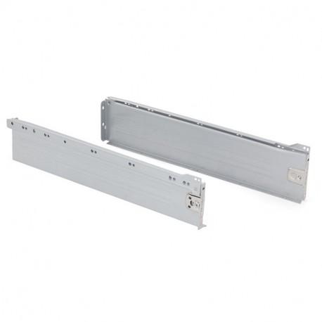 Kit de cajón exterior Ultrabox Emuca altura 118 mm y profundidad 500 mm