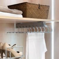 Emuca Pantalonero extraible para armario, montaje derecha, Acero y plástico, Gris metalizado
