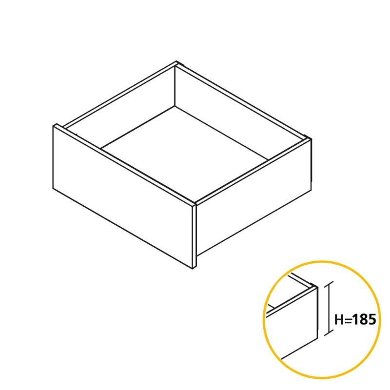 Kit de caj/ón para Cocina o ba/ño con guias de extracci/ón Total y Cierre Suave Altura 185mm y Profundidad 400mm Blanco Emuca