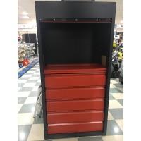 Armario puertas correderas herram 1.500mm porta cubetas rojo HECO