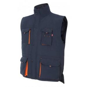 Chaleco acolchado multibolsillos 205902-61-16 azul/naranja VELILLA