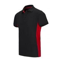 Polo bicolor manga corta 105504 0-12 negro/rojo VELILLA