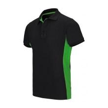 Polo bicolor manga corta 105504 0-25 negro/verde lima VELILLA