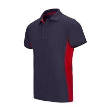 Polo bicolor manga corta 105504 61-12 azul navy/rojo VELILLA