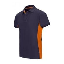 Polo bicolor manga corta 105504 61-16 azul navy/naranja VELILLA