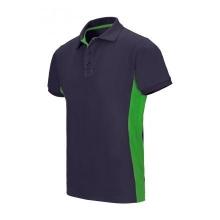 Polo bicolor manga corta 105504 61-25 azul navy/verde lima VELILLA