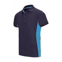 Polo bicolor manga corta 105504 61-5 azul navy/celeste VELILLA