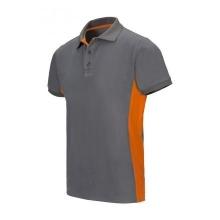 Polo bicolor manga corta 105504 8-16 gris/naranja VELILLA