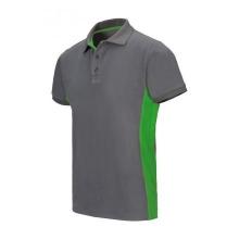 Polo bicolor manga corta 105504 8-25 gris/verde lima VELILLA