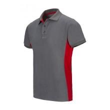 Polo bicolor manga corta 105504 8-12 gris/rojo VELILLA