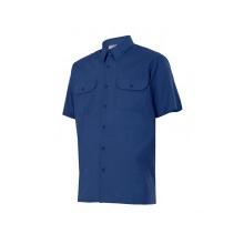 Camisa de manga corta 522-1 azul marino VELILLA