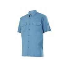 Camisa de manga corta 522-5 celeste VELILLA