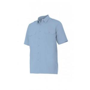 Camisa manga corta 532-5 celeste VELILLA