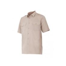 Camisa manga corta 532-6 beige VELILLA