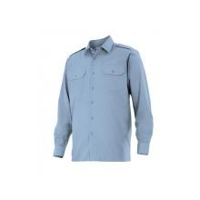 Camisa manga larga 530-5 celeste VELILLA