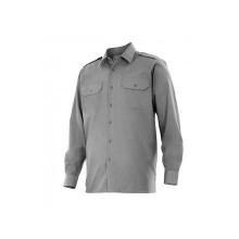 Camisa manga larga 530-8 gris VELILLA