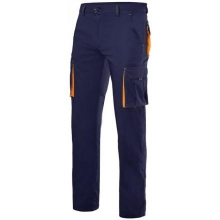 Pantalon stretch multibolsillos 103008S-1-19 marino/naranja VELILLA