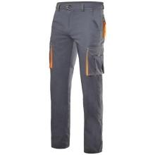 Pantalon stretch multibolsillos 103008S-8-19 gris/naranja VELILLA