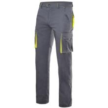 Pantalon stretch multibolsillos 103008S-8-20 gris/amarillo VELILLA