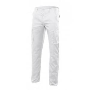 Pantalon stretch multibolsillos 103005S-7 blanco VELILLA