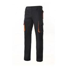 Pantalon multibolsillos con refuerzo 103004 negro/naranja VELILLA