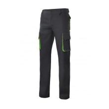 Pantalon multibolsillos con refuerzo 103004 negro/lima VELILLA