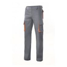 Pantalon multibolsillos con refuerzo 103004 gris/naranja VELILLA