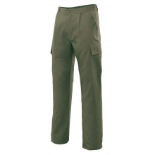 Pantalon multibolsillos 31601-3 verde caza VELILLA