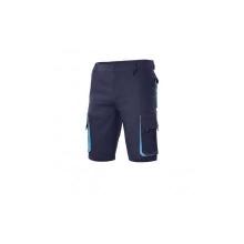 Bermuda bicolor multibolsillos 103007 61-5 azul/celeste VELILLA
