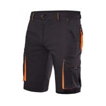 Bermuda stretch bicolor multibolsillos 103010S negro/naranja VELILLA