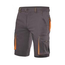 Bermuda stretch bicolor multibolsillos 103010S gris/naranja VELILLA