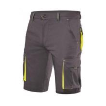 Bermuda stretch bicolor multibolsillos 103010S gris/amarillo VELILLA
