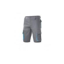 Bermuda bicolor multibolsillos 103007 8-5 gris/celeste VELILLA