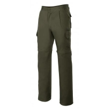 Pantalon multibolsillos desmontable 346-3 verde caza VELILLA