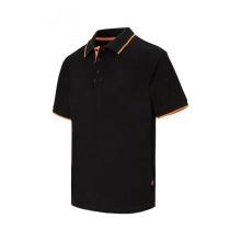 Polo raya bicolor de manga corta 105505 0-19 negro/naranja VELILLA