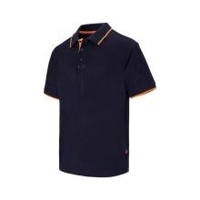 Polo raya bicolor de manga corta 105505 61-19 marino/naranja VELILLA