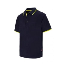 Polo raya bicolor de manga corta 105505 61-20 marino/amarill VELILLA