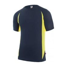 Camiseta tecnica manga corta 105501-60 marino/amarillo VELILLA