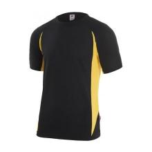 Camiseta tecnica manga corta 105501-0-17 negro/amarillo VELILLA