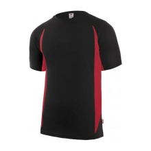 Camiseta tecnica manga corta 105501-0-12 negro/rojo VELILLA
