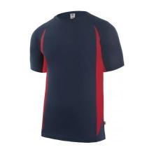 Camiseta tecnica manga corta 105501-1-12 marino/rojo VELILLA